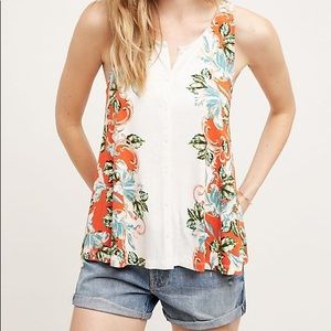 Anthropologie Akemi + Kin Floral Sleeveless Top L